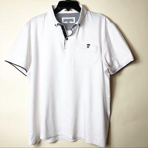 Ted Baker London white polo. Size XXL